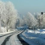 Jaworzyna Śląska drogi zimą