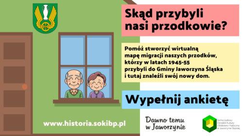 Ankieta Skąd przybyli Twoi przodkowie Jaworzyna Śląska