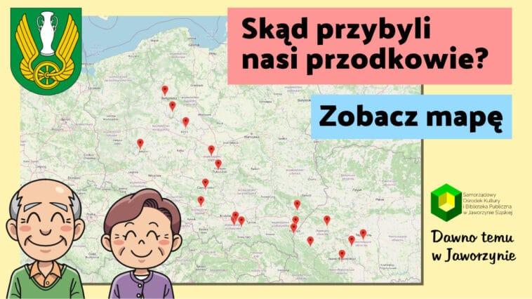 Mapa Gmina Jaworzyna Śląska Skąd przybyli nasi przodkowie
