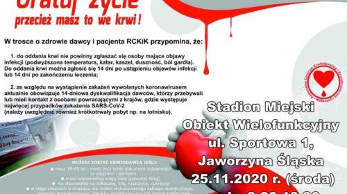 Zbiórka krwi Jaworzyna Śląska
