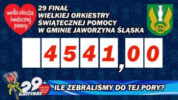 WOŚP Jaworzyna Śląska wyniki zbiórki