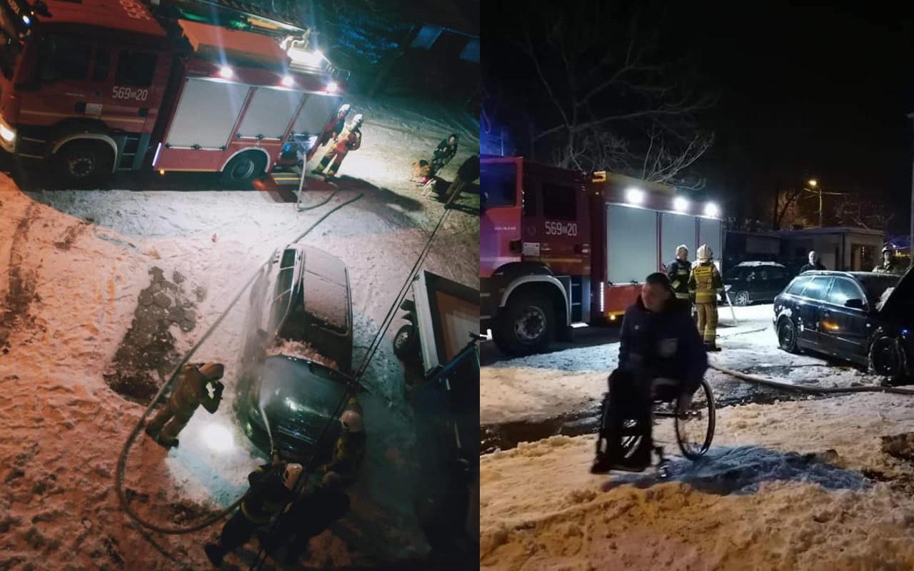 Pożar samochodu Jaworzyna Śląska