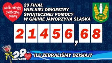 Wynik zbiórki WOŚP Gmina Jaworzyna Śląska