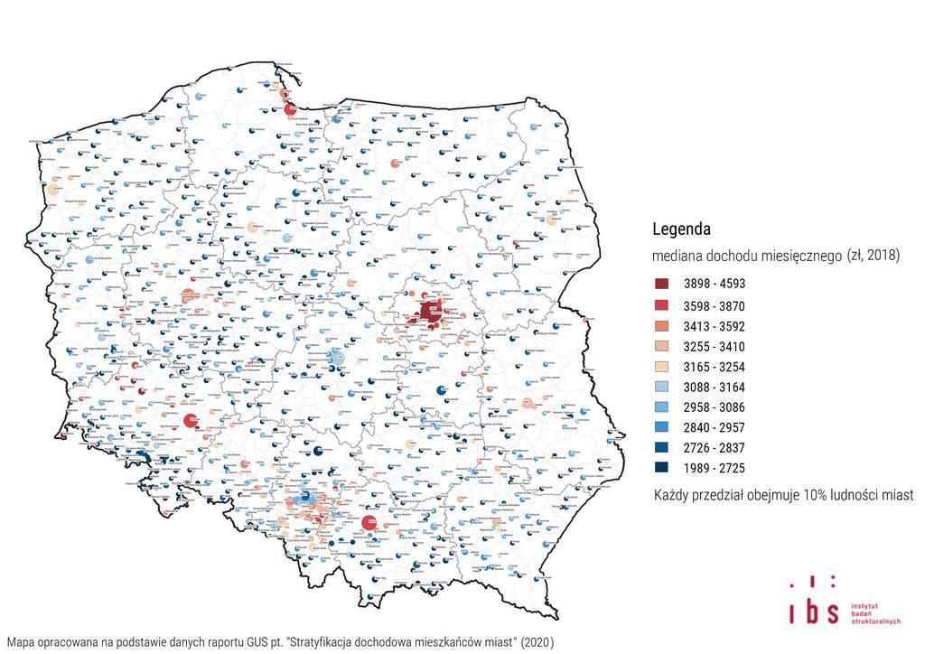 Mediana dochodu Polska