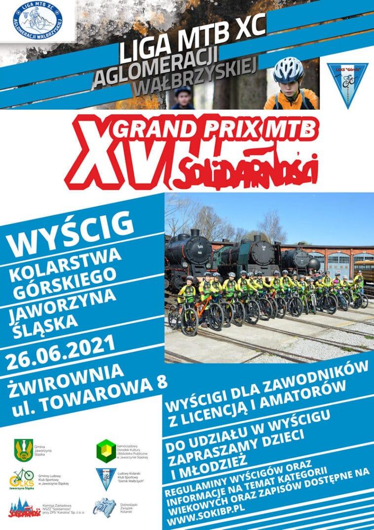 XVII Grand Prix MTB Solidarności Liga Aglomeracji Wałbrzyskiej plakat