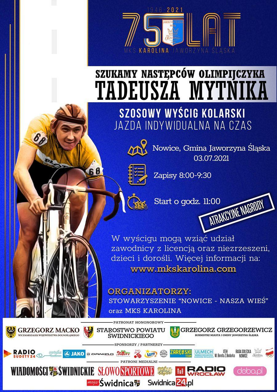Wyścig kolarski Nowice plakat